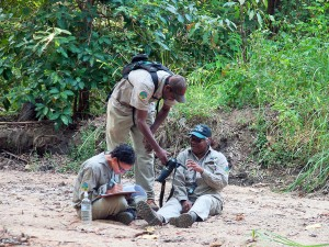 Land management officers record story places in kaantju