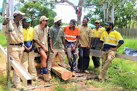 Kalan Land Management Officers at Kalan Timbers work site